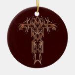 Cruz adornada cristiana 4 adorno para reyes