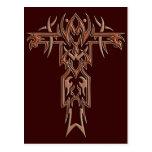 Cruz adornada cristiana 4 postales