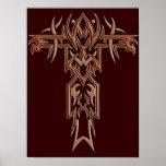 Cruz adornada cristiana 4 posters