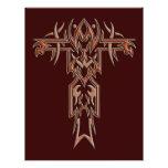 Cruz adornada cristiana 4 tarjetas publicitarias