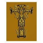 Cruz adornada cristiana 5 flyer a todo color