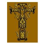 Cruz adornada cristiana 5 postales