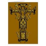 Cruz adornada cristiana 5 tarjetón