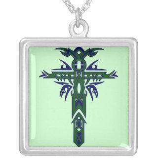 Cruz adornada cristiana 61 colgante personalizado