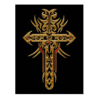 Cruz adornada cristiana 71 postal