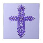 Cruz adornada cristiana 75 azulejo cerámica