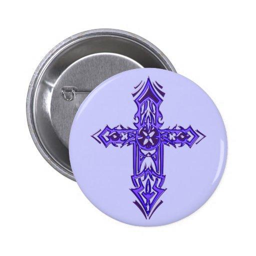 Cruz adornada cristiana 75 pin