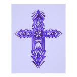 Cruz adornada cristiana 75 tarjetón