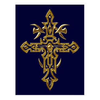 Cruz adornada cristiana 77 postal