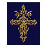 Cruz adornada cristiana 77 tarjetones