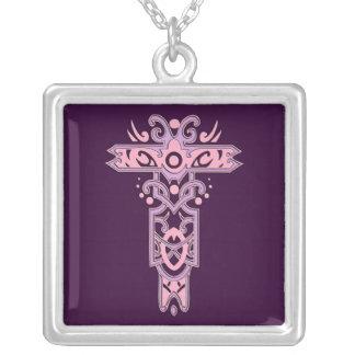 Cruz adornada cristiana 7 colgante personalizado