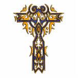 Cruz adornada cristiana 8 esculturas fotograficas