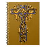 Cruz adornada cristiana 8 libros de apuntes con espiral