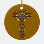 Cruz adornada cristiana 8 ornamentos de navidad