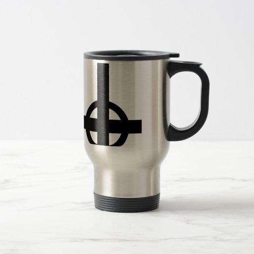 Cruz al revés taza