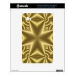 Cruz amarilla elegante samsung galaxy tab skins