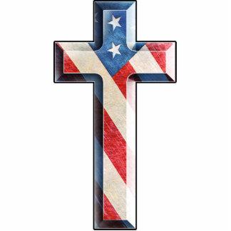 Cruz americana de la fe esculturas fotográficas