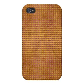 Cruz anaranjada en caso del iPhone 4 del círculo iPhone 4 Coberturas