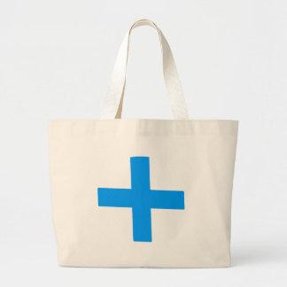 Cruz azul bolsa tela grande