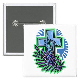 Cruz azul de la palma pin