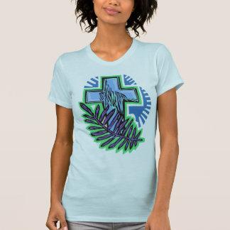 Cruz azul de la palma camisetas