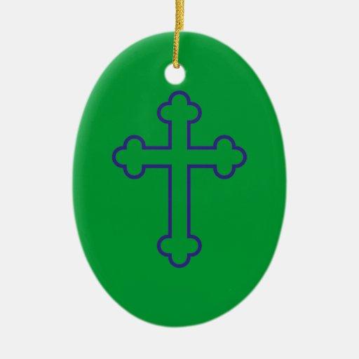 cruz azul de los apóstoles ornamento de reyes magos