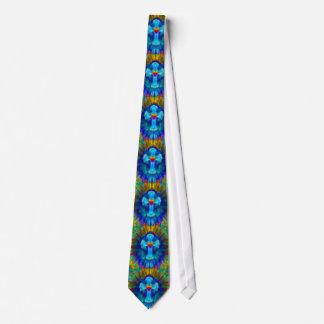 Cruz azul del teñido anudado con el corazón corbatas