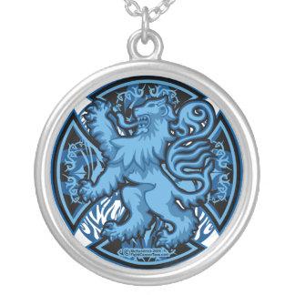 Cruz azul escocesa collar personalizado