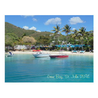 Cruz Bay, St. John USVI Postcard