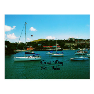 Cruz Bay St. John USVI Postcard