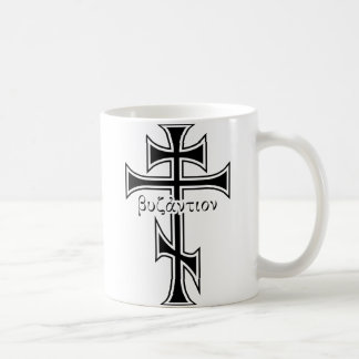 Cruz bizantina y Eagle Taza