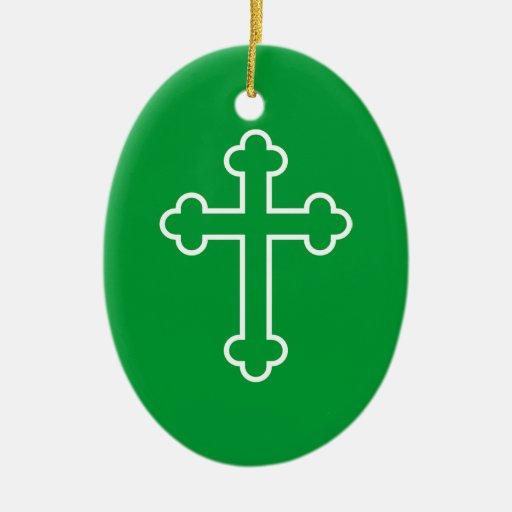 cruz blanca de los apóstoles o cruz florecida adorno para reyes