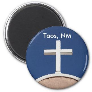 Cruz blanca de Taos Imanes De Nevera