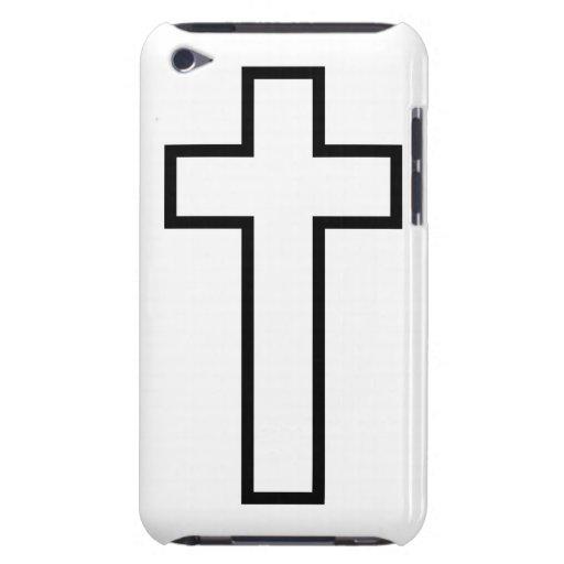 Cruz blanca iPod touch protectores