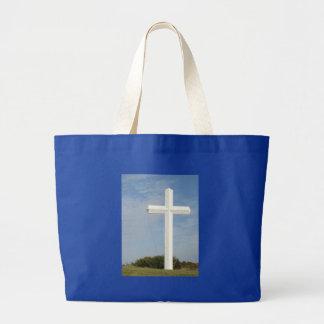 Cruz blanca, personalizar bolsa
