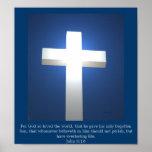 Cruz blanca, poster del 3:16 de Juan