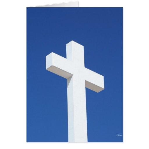 Cruz blanca tarjetón