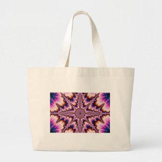 Cruz - bolso rosado del fractal bolsas de mano