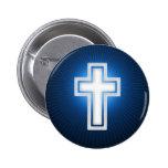 Cruz - botón cristiano pin
