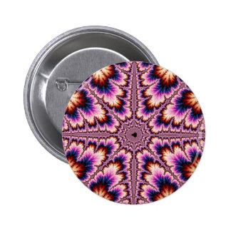 Cruz - botón rosado del fractal pins
