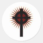 Cruz céltica #5 etiqueta redonda