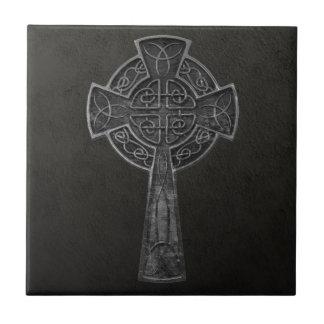 Cruz céltica azulejo cuadrado pequeño