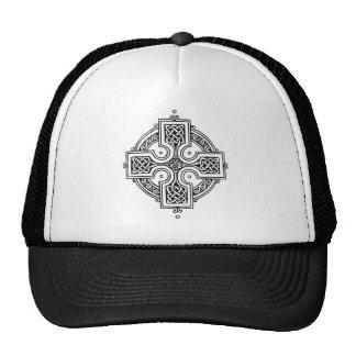 Cruz céltica (blanco y negro) gorros
