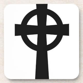 Cruz céltica católica posavasos de bebida