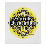 Cruz céltica de la prevención del suicidio impresiones