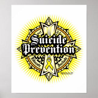 Cruz céltica de la prevención del suicidio póster