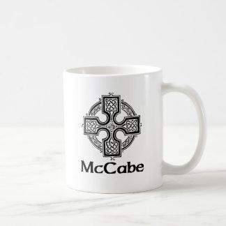 Cruz céltica de McCabe Tazas De Café