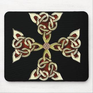 Cruz céltica de oro Mousepad Tapetes De Ratones