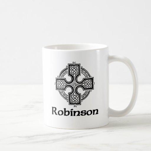 Cruz céltica de Robinson Taza De Café