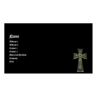 Cruz céltica del gótico del vintage tarjetas de visita